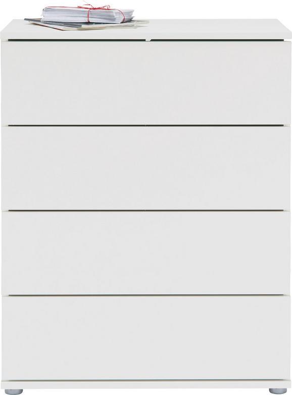 Kommode Weiß - Alufarben/Weiß, MODERN, Holzwerkstoff/Kunststoff (75/95/43cm) - Mömax modern living