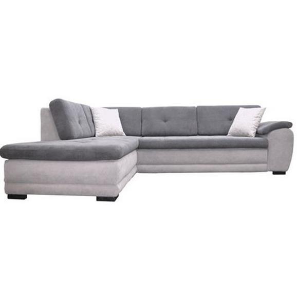 Sedežna Garnitura Bali New - Desna - siva/črna, Moderno, tekstil/les (220/290cm) - Mömax modern living