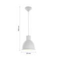 Hängeleuchte max. 42 Watt 'Nessaja' - Weiß, MODERN, Metall (21,5/130cm) - Bessagi Home