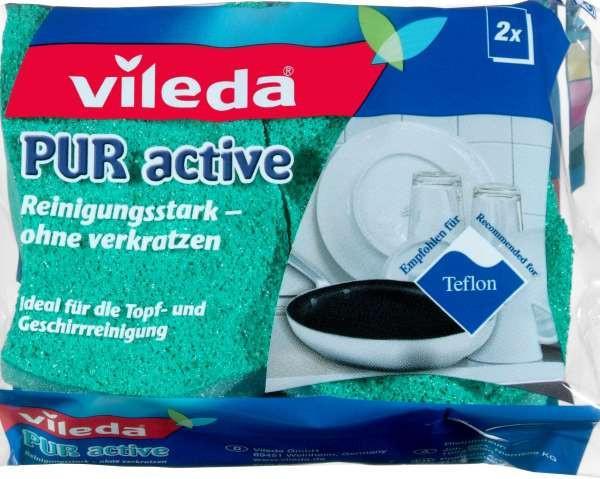 Mosogatószivacs Pur Active F10004 Vileda - zöld, konvencionális, textil