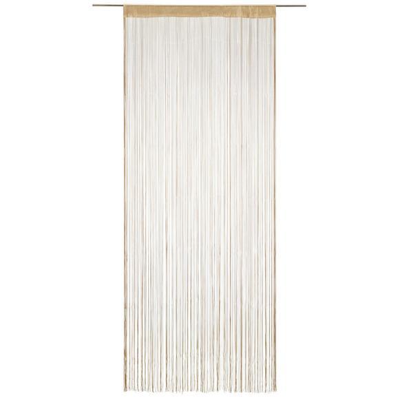 Zsinórfüggöny Franz - Bézs, Textil (90/245cm) - Mömax modern living