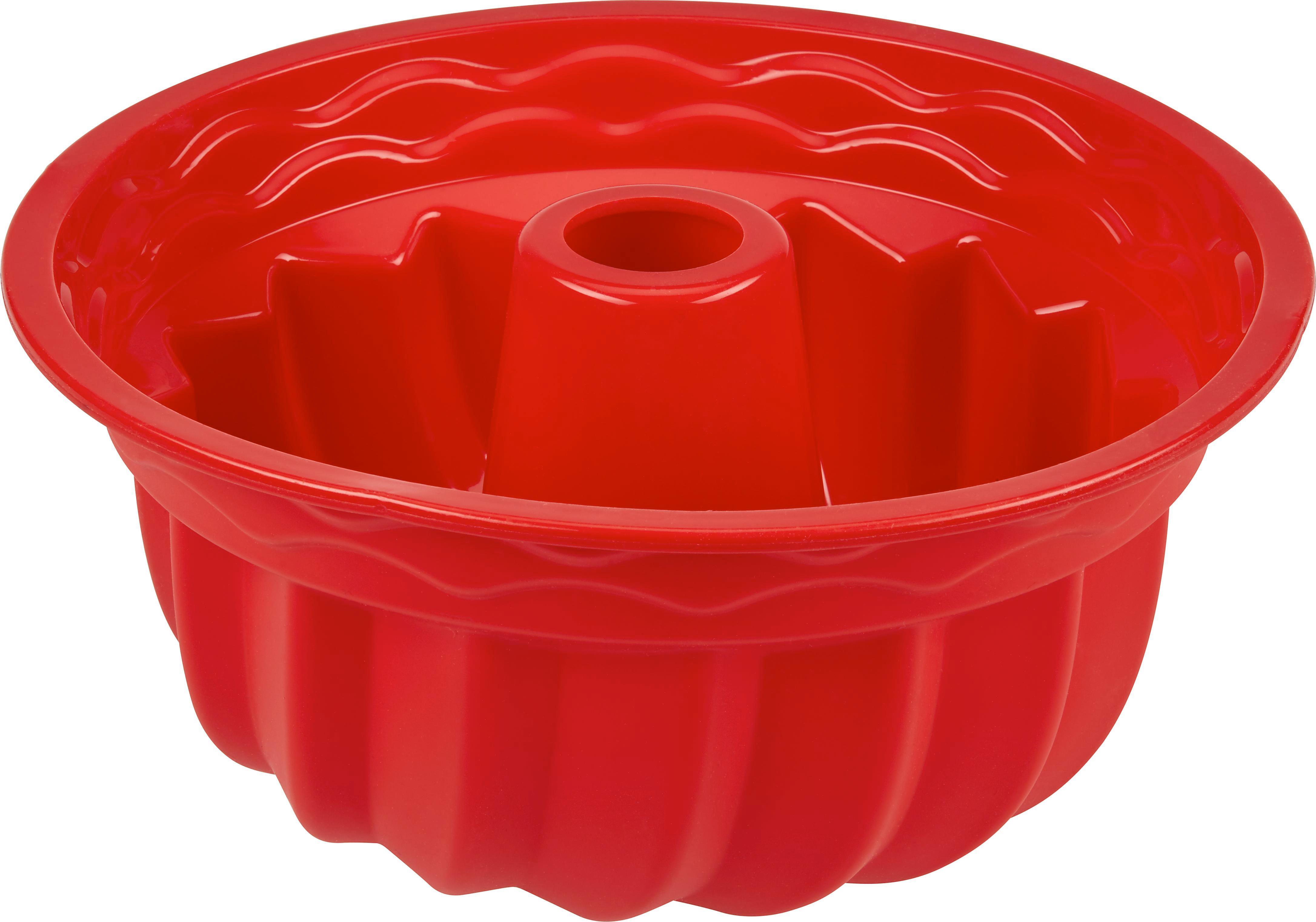 Gugelhupfform Silke in Rot aus Silikon - Rot, Kunststoff (23,5/10cm) - MÖMAX modern living