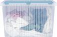 Box mit Deckel Vito in verschiedenen Farben - Taupe/Blau, Kunststoff (60/40/36cm)
