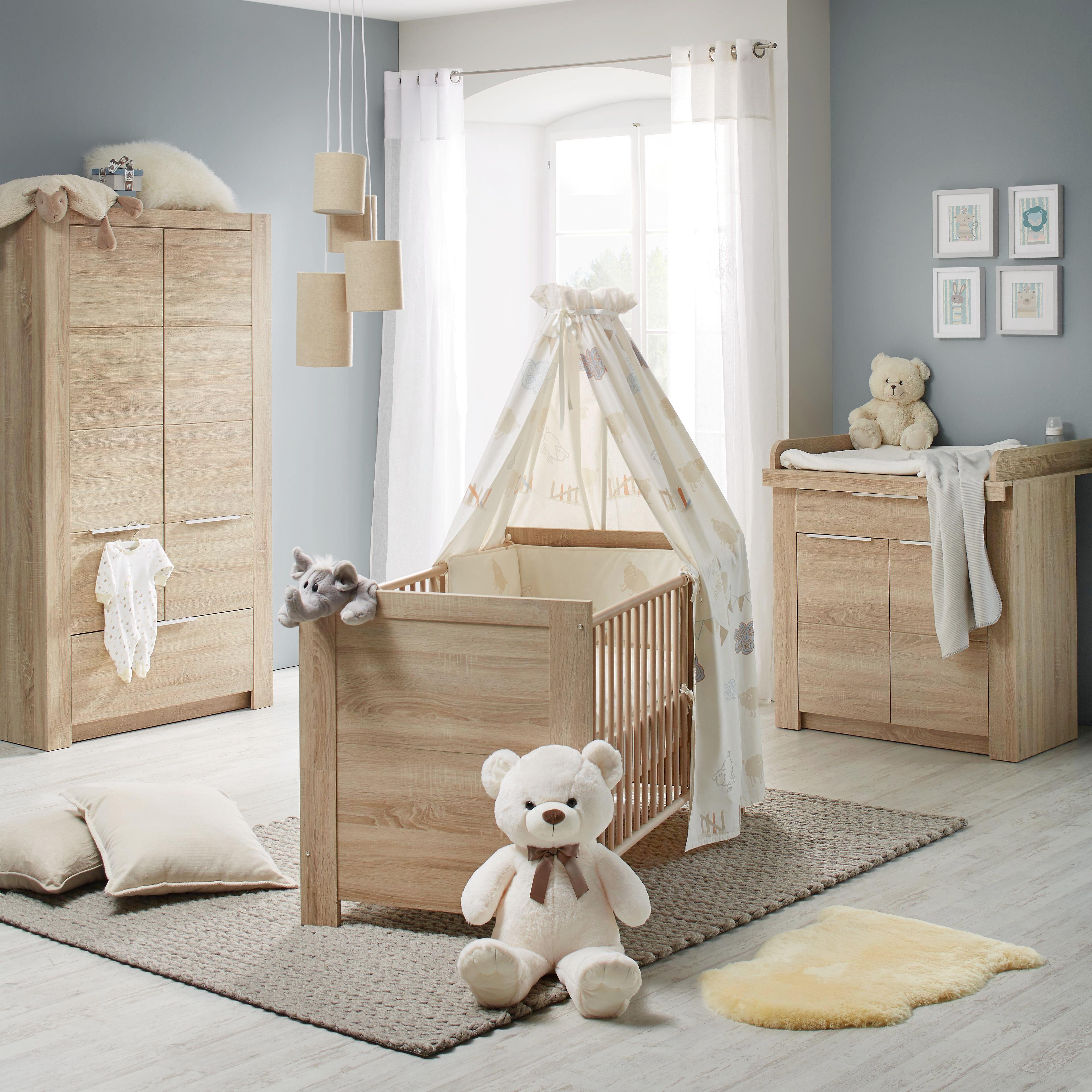 Babyzimmer Carlotta - Eichefarben, KONVENTIONELL, Holz