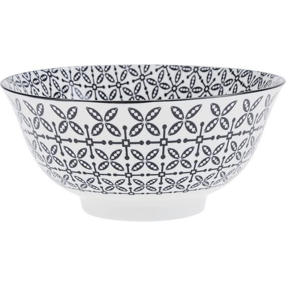 Castron Pentru Salată Shiva - alb/negru, Lifestyle, ceramică (21/8cm) - Mömax modern living