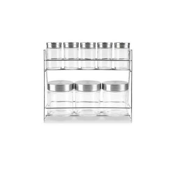 Raft Condimente Eleonore - clar/culoare inox, Konventionell, sticlă/metal (27,3/9,6/23cm) - Mömax modern living
