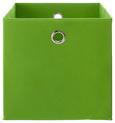 Zložljiv Zaboj Fibi -ext- -top- - zelena, Moderno, kovina/karton (30/30/30cm) - Based