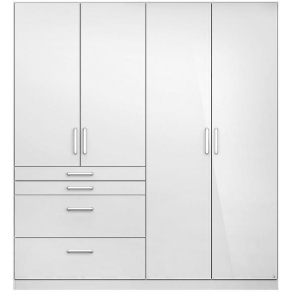 Omara S Klasičnimi Vrati Flash - aluminij/bela, Moderno, umetna masa/leseni material (181/197/54cm) - Mömax modern living