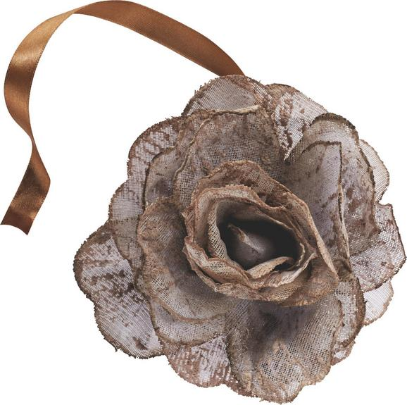 Dekoclip Rose in verschiedenen Farben - Anthrazit/Rosa, ROMANTIK / LANDHAUS, Textil (11cm) - MÖMAX modern living