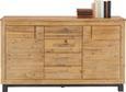 Komoda Aruba - črna/akacija, Konvencionalno, leseni material/les (155/90/45cm) - Zandiara