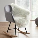 Kunstfell in Weiß ca. 90x60 cm 'Alena' - Weiß, MODERN, Textil (90/60cm) - Bessagi Home
