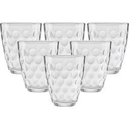 Gläserset Dots ca. 390ml, 6 tlg. - Klar, Glas (17,0/25,7/10,90cm) - Mömax modern living