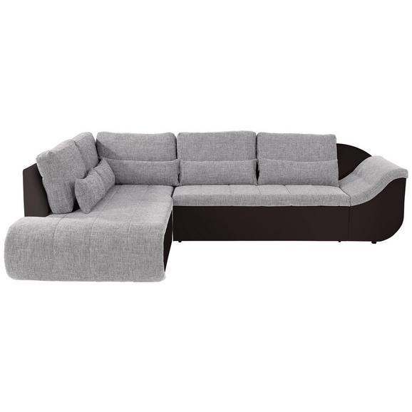 Sedežna Garnitura Carisma - črna/rjava, Moderno, umetna masa/tekstil (210/300cm) - Mömax modern living