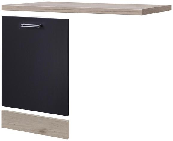 Geschirrspülerblende Anthrazit/Eiche - MODERN (110/60cm)