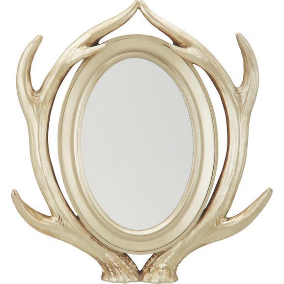 Stensko Ogledalo Klaus - zlata, umetna masa/steklo (38/45/8cm)