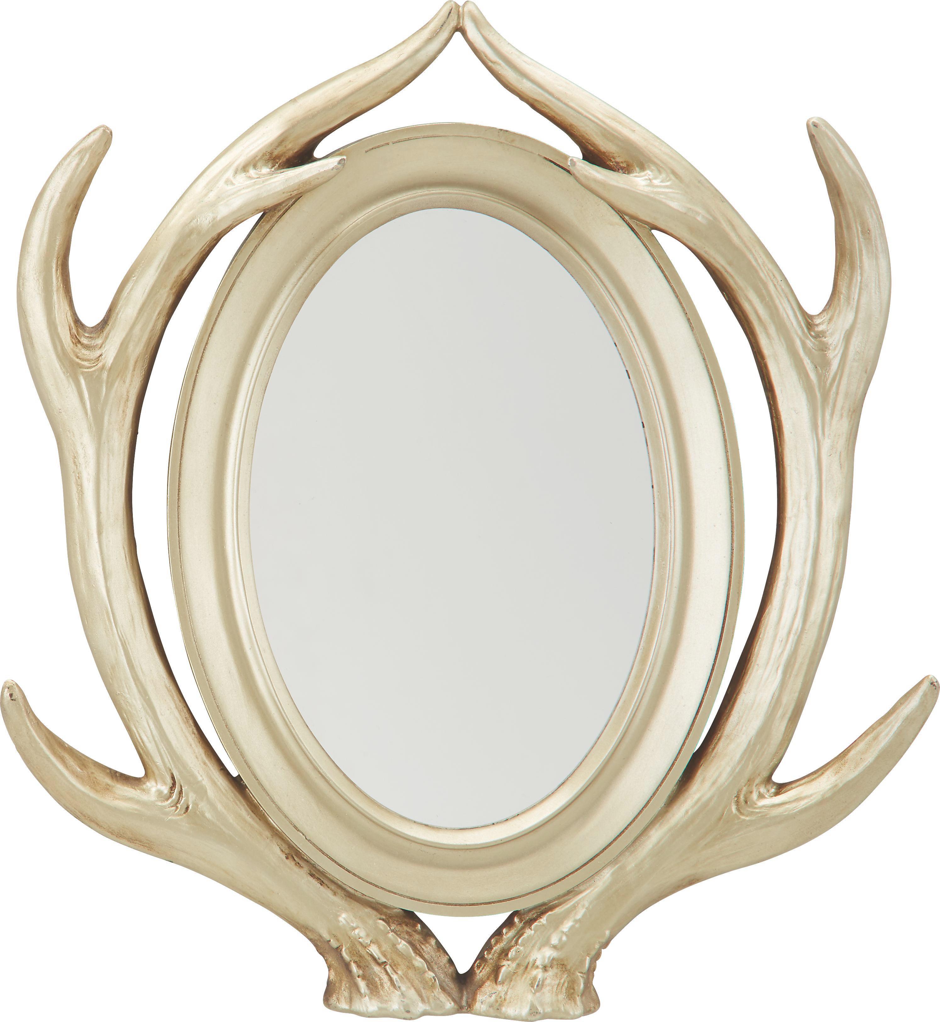 Wandspiegel ca. 38x45x8cm - Goldfarben, Glas/Kunststoff (38/45/8cm) - MÖMAX modern living