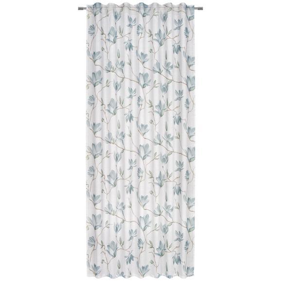 Fertigvorhang Magda Blumenmuster - Blau, Basics, Textil (140/245cm) - Mömax modern living