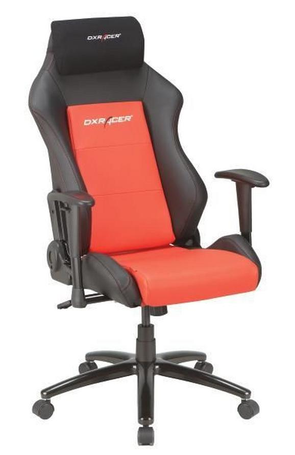 Gamingstuhl in Schwarz/Rot - Rot/Schwarz, Kunststoff/Textil (50/117-127/74cm) - Dxracer