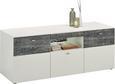 Tv-element Leeds - siva/bela, Moderno, kovina/umetna masa (149,8/59,3/52cm) - Modern Living