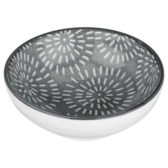 Dipschale Nina aus Porzellan Ø ca. 8cm - Grau, Keramik (8cm) - Mömax modern living