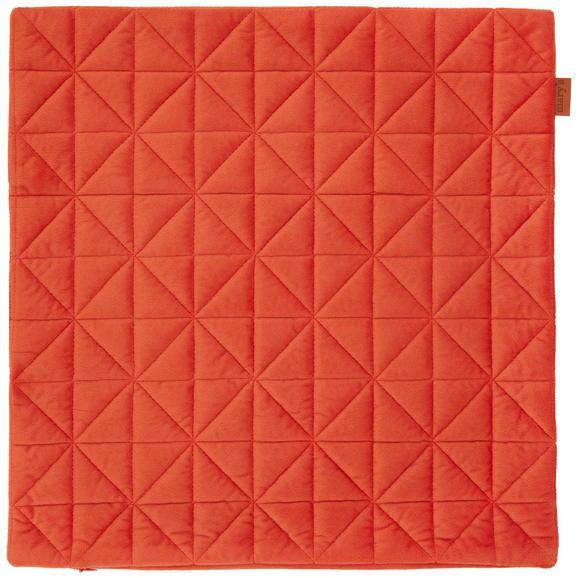 Kissenhülle Mary Samt Orange 45x45cm - Orange, MODERN, Textil (45/45cm) - Mömax modern living