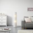Lampadar Francesco - alb/culoare crom, Konventionell, hârtie/metal (27,5/120cm) - Based