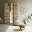 Hocker in Naturfarben - Naturfarben, ROMANTIK / LANDHAUS, Holz/Textil (40/30/40cm) - Zandiara