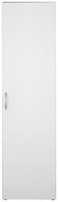 Mehrzweckschrank Weiß - Alufarben/Weiß, Holzwerkstoff/Kunststoff (50/185/40cm) - Mömax modern living