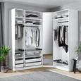 Kleiderschrankkorpus in Weiß - Weiß, MODERN, Holzwerkstoff (91,1/210/56,5cm) - Based