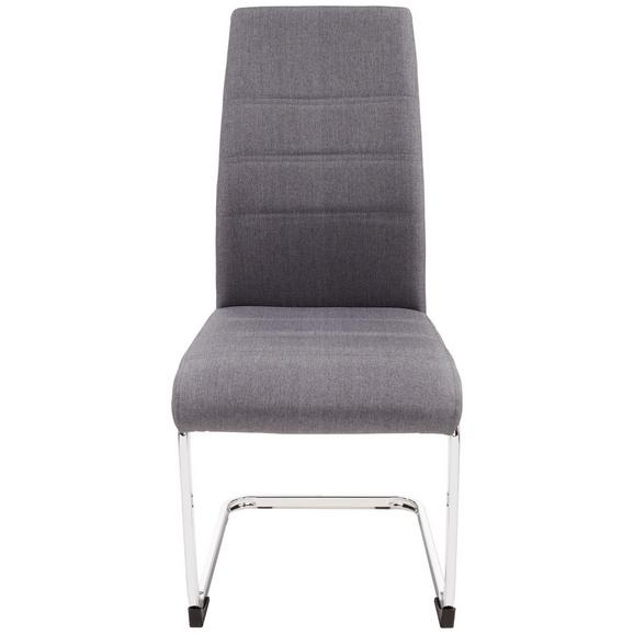 Scaun Donna - culoare crom/gri, Konventionell, metal/textil (42/99/56cm)