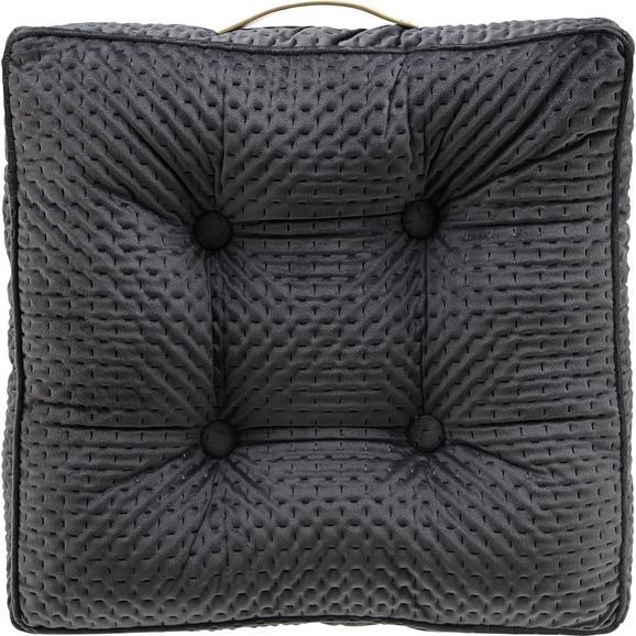 Sitzkissen Miley ca.45x45cm in Grau - Grau, MODERN, Textil (45/45/8cm) - Bessagi Home