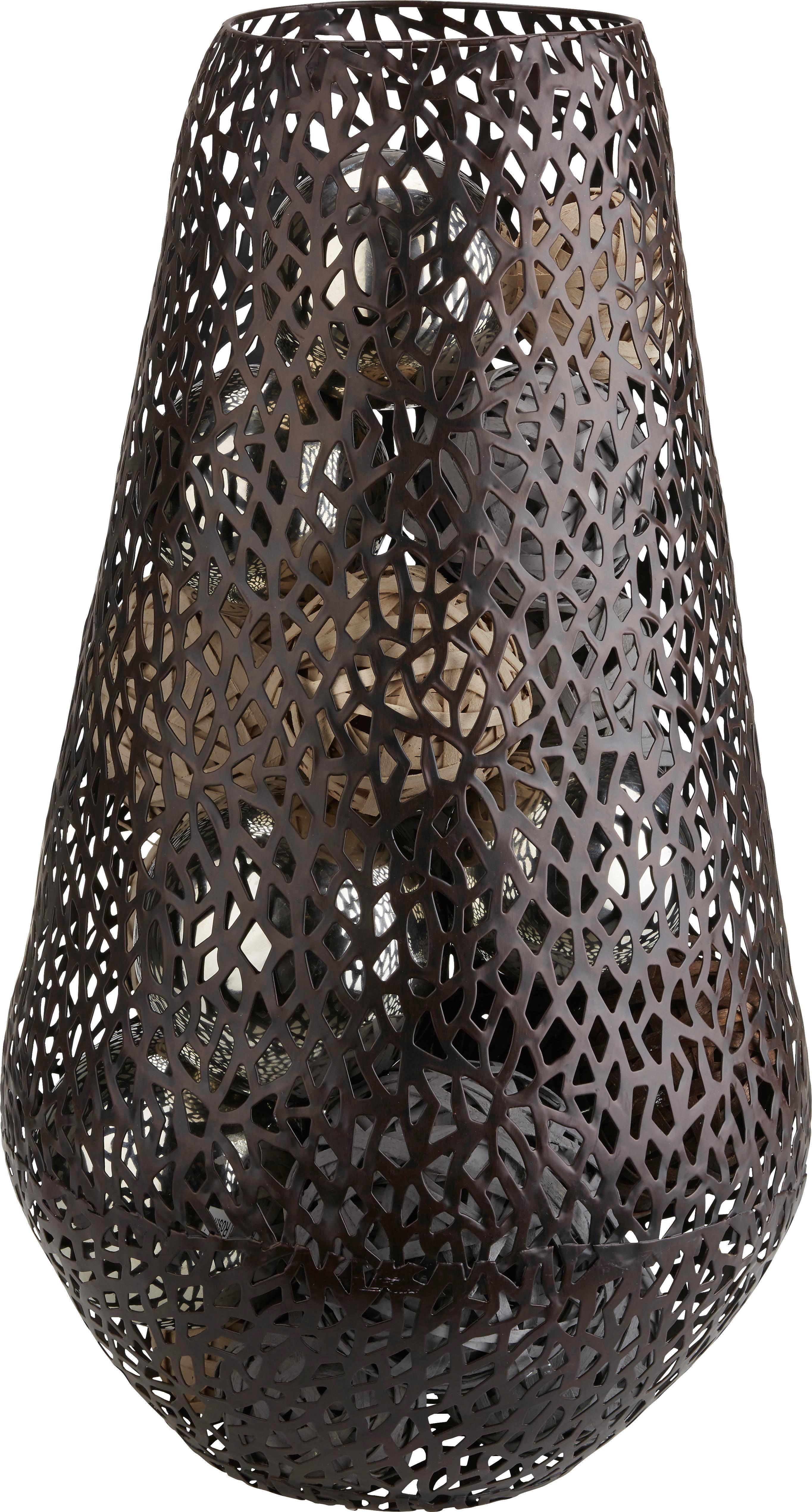 Váza Frederike - sötétbarna, fém (26/46cm) - MÖMAX modern living