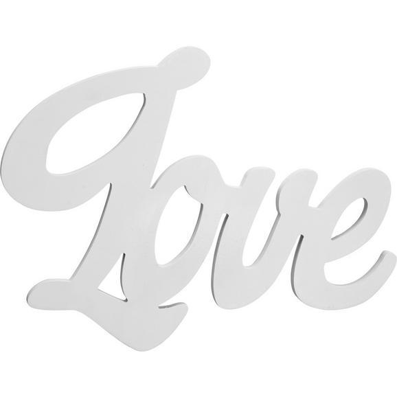 Dekobuchstaben Love Weiß - Weiß, MODERN, Holzwerkstoff (40/30/1,2cm) - Mömax modern living