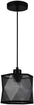 Hängeleuchte Lias max. 1x60 Watt - Schwarz, LIFESTYLE, Textil/Metall (17,5/170cm) - Mömax modern living