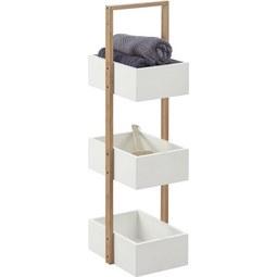 Badezimmerregal Mirella - Naturfarben/Weiß, MODERN, Holz (32/89,5/24cm) - Mömax modern living