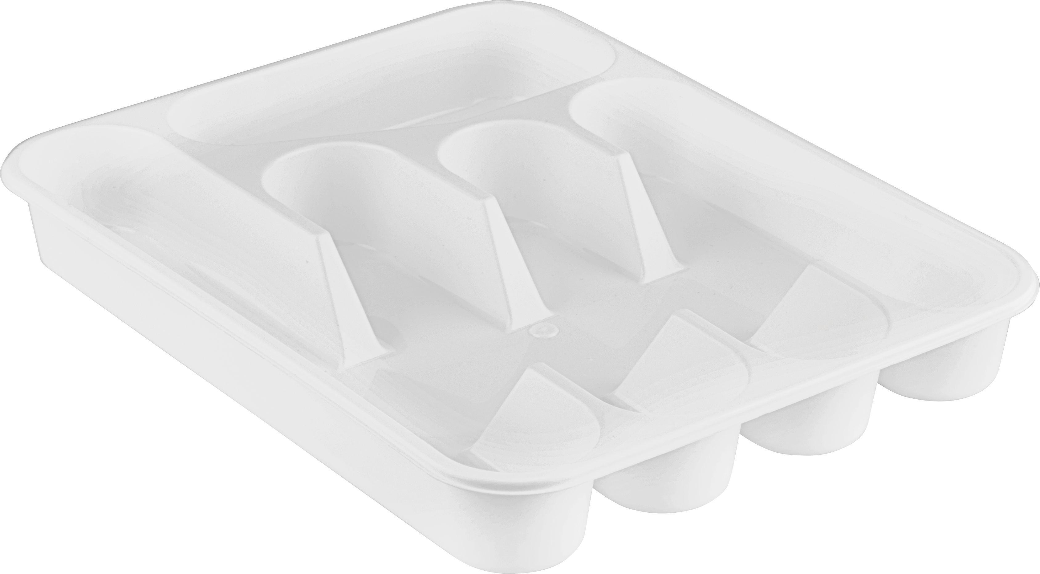 Evőeszközartó Betét Rebecca - fehér, műanyag (35/26/4,5cm) - MÖMAX modern living