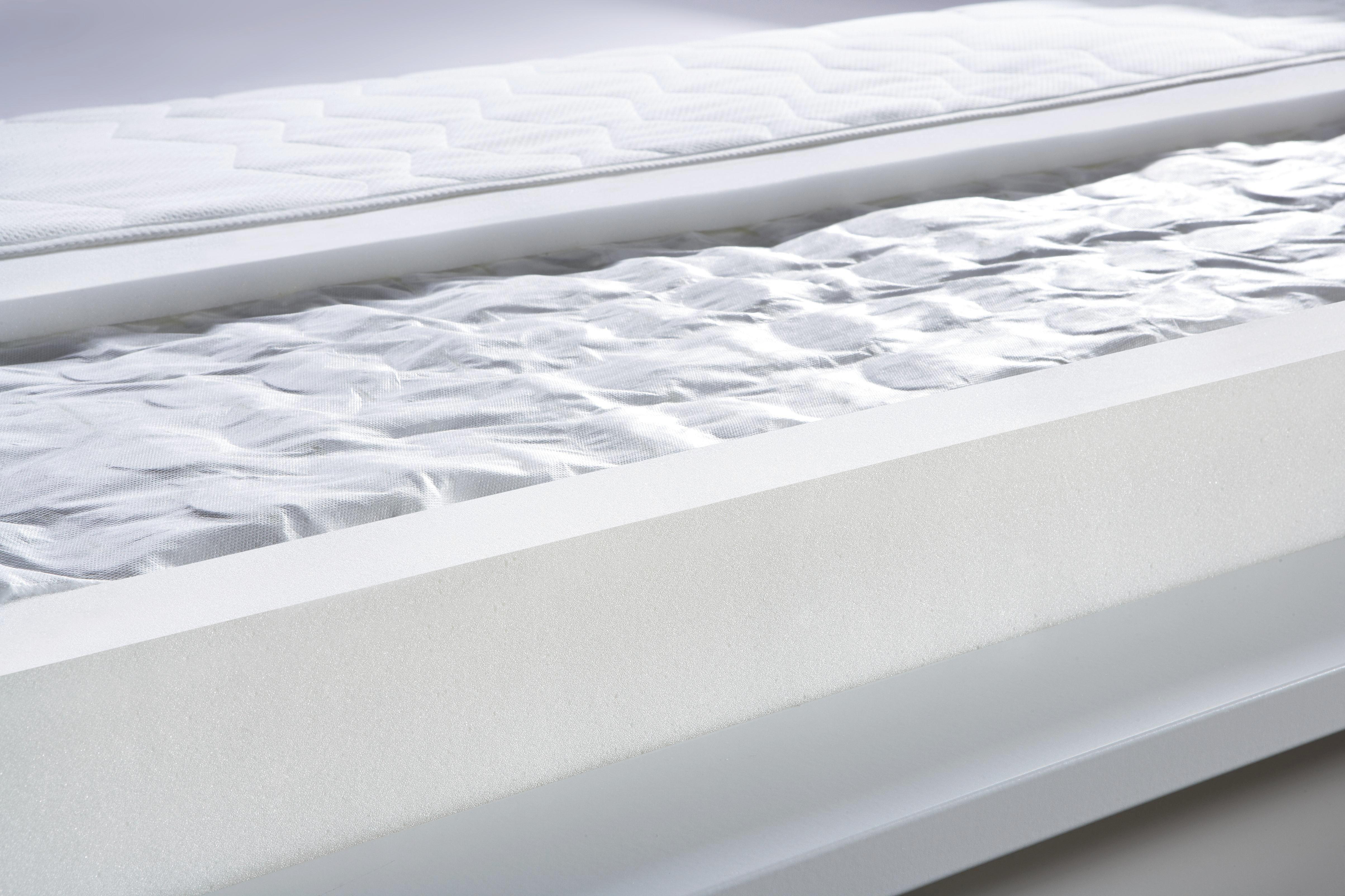 Taschenfederkernmatratze ca. 140x200cm - Weiß, KONVENTIONELL, Textil (200/140/19cm) - BASED