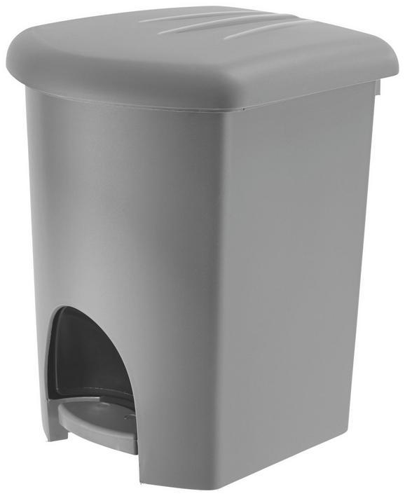 Treteimer Treteimer in Grau ca. 16l - Graphitfarben/Schwarz, Kunststoff (31,9/30,2/38cm) - Mömax modern living