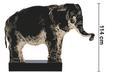 Dekoelefant Dumbo H ca. 114 cm - Schwarz/Naturfarben, MODERN, Holz/Holzwerkstoff (149/15/114cm) - Premium Living