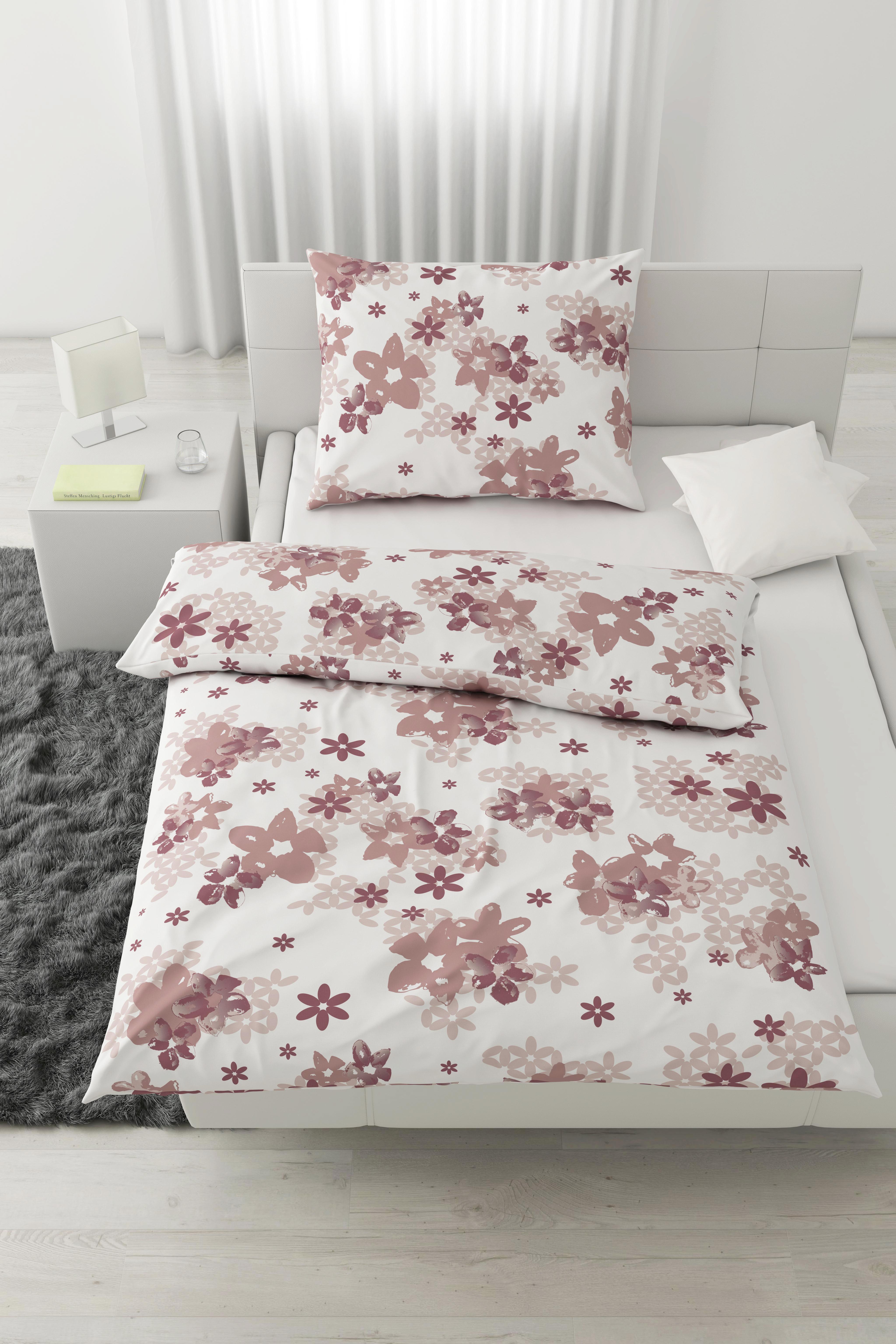 Bettwäsche Paula, ca. 140x200cm - Türkis/Rosa, Textil (140/200cm) - MÖMAX modern living