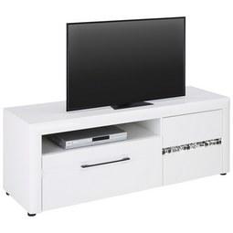 176f16bb5738bd TV-Element in Weiß Hochglanz - Schwarz Weiß