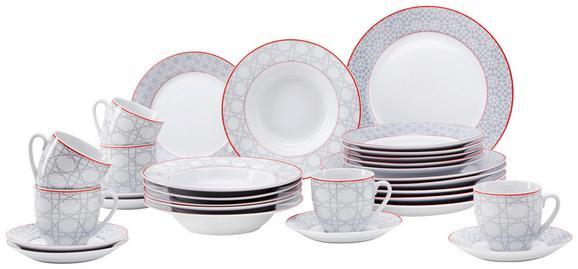 Kombinirani Servis Bouquet - rdeča/siva, Trendi, keramika (28,5/31,3/28,5cm) - Mömax modern living