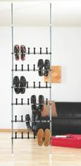 Cipőtároló Schureg - krómszínű/fekete, műanyag/fém (68/218-219cm) - MÖMAX modern living