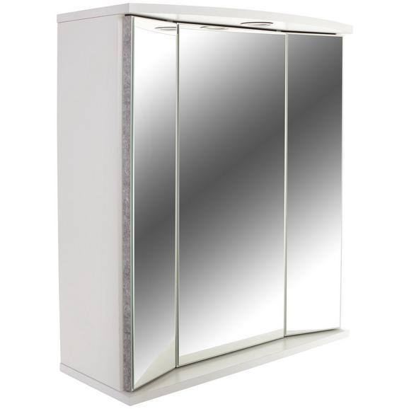 Dulap Cu Oglindă Verona - alb, Konventionell, sticlă/compozit lemnos (65/70/21cm)