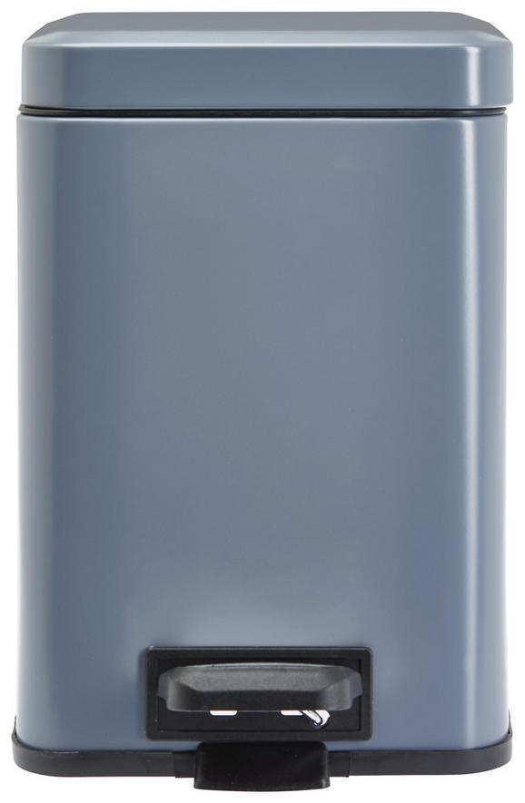 Treteimer Larissa Grau - Grau, ROMANTIK / LANDHAUS, Kunststoff/Metall (20/20/30,5cm) - Premium Living