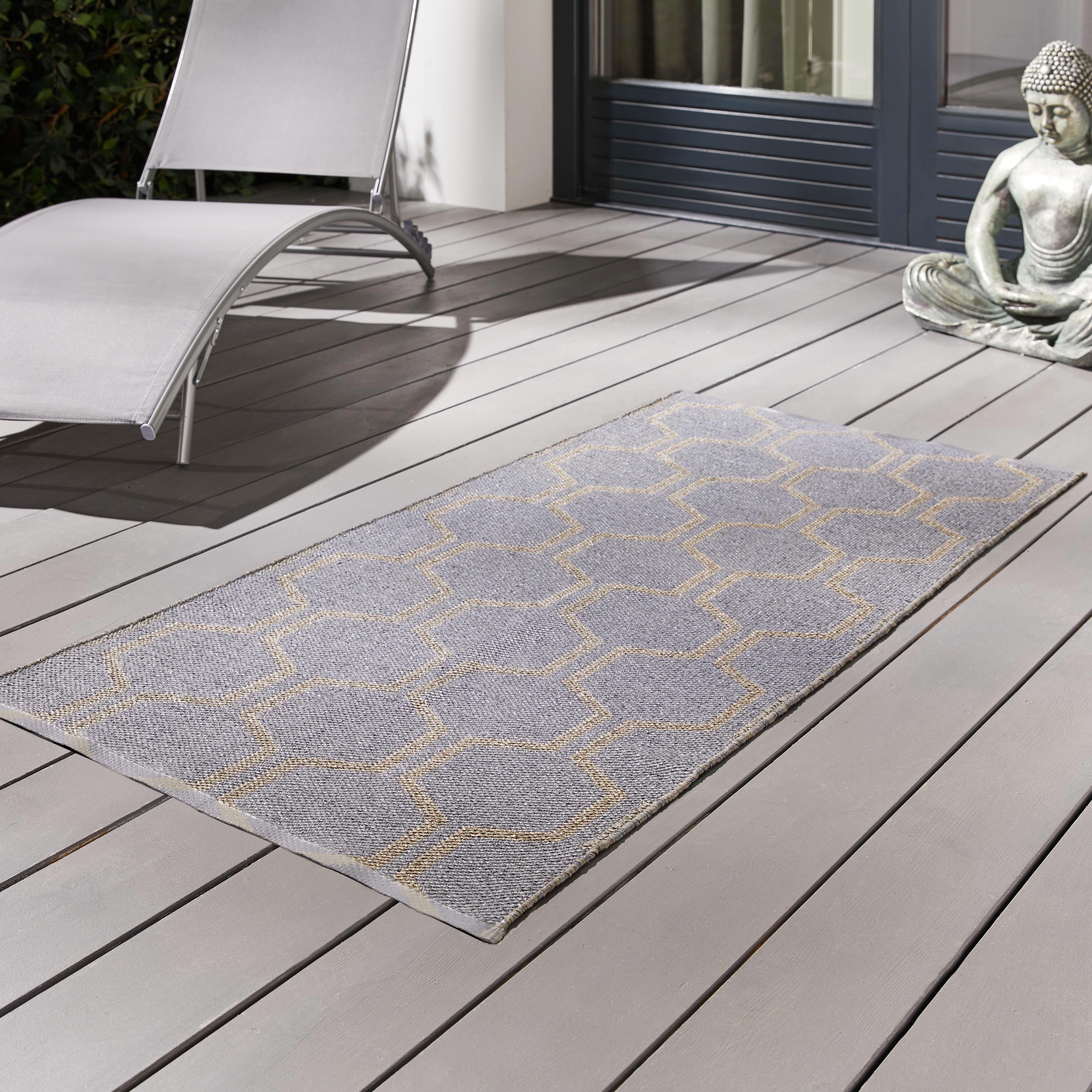 Outdoorteppich Jaques 70x140cm - Taupe/Grau, MODERN, Textil (70/140cm) - MÖMAX modern living