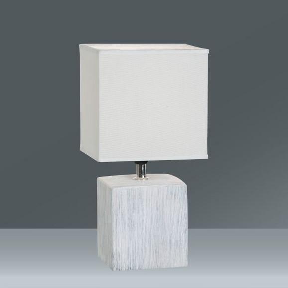 Tischleuchte Wanda, max. 40 Watt - Weiß, Keramik/Textil (15,5/28cm) - Mömax modern living