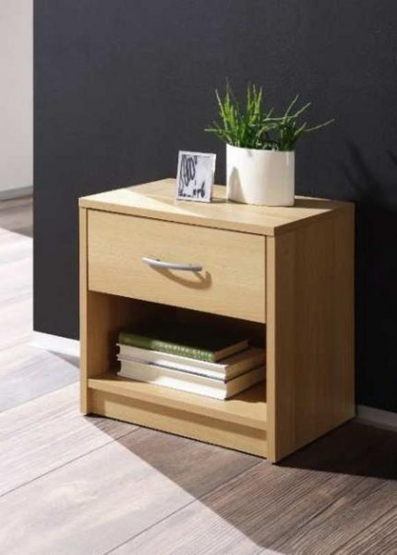 Nočna Omarica Pepe - aluminij/bukev, umetna masa/leseni material (39/41/28cm) - Mömax modern living