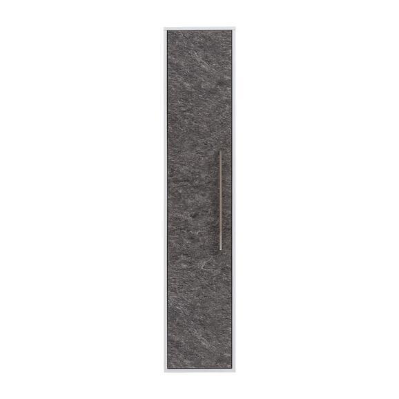 Hochschrank in Schieferfarben - Schieferfarben/Weiß, MODERN, Glas/Holzwerkstoff (33/160,5/33,5cm)