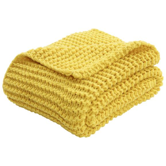 Pătură Pufoasă Emily - galben, Romantik / Landhaus, textil (110/160cm) - Premium Living